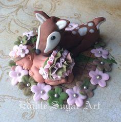Deer woodland baby shower topper - Cake by TiersInHeaven