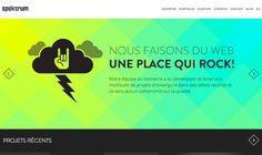 Spectrum Media web site design