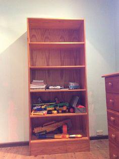 Timber bookshelf 2040 mm high , 900 wide , 410 deep