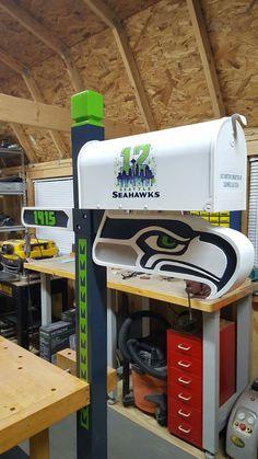 Turn your garage into the ultimate man cave. Seahawks Football, Seattle Seahawks, Starbucks Seattle, Seattle Washington, Man Cave, 12th Man, Sport, Football Spirit, Hobbies