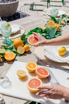 Host a Citrus Theme Party - Fashionable Hostess Host a Citrus Theme Party - Fashionable Hostess Baby Shower Host, Baby Shower Themes, Bridal Shower, Shower Ideas, Mary's Bridal, Baby Showers, Orange Party, Dinner Themes, Party Themes