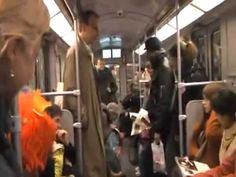 A group pf Laughing people in Berlin metro proving Laughing is contagious