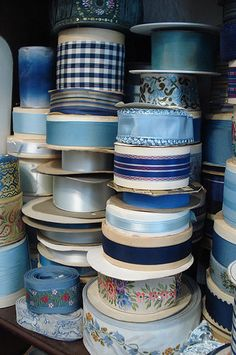 Blue Ribbons by such pretty things, via Flickr