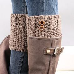 4eb2825a59 Short Button Crochet Leg Warmers Winter Fall Knit Boot Cuffs Socks Boot  Warmers Hollow Boot Toppers Gaiters Material  Cotton