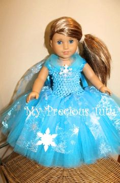 Ice Queen Princess 18 Doll Dress by MyPreciousTutu on Etsy