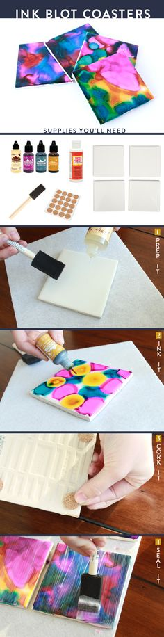 Let's have fun with Ink block coasters from #darbysmart  They are the perfect DIY project.