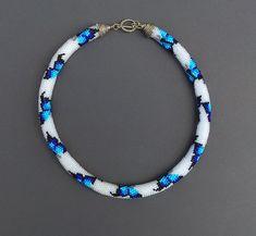 Women Birthday, Birthday Woman, Bead Jewelry, Etsy Jewelry, Rope Necklace, Necklace Lengths, Beaded Choker, Beaded Bracelets, Bead Crochet Rope