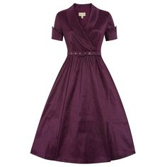 Vanda Wine Purple Party Dress | Vintage Styles Dresses - Lindy Bop