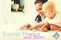 mom baby social media