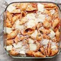 Baked Shells with Tomato and Mozzarella by Big Girls Small Kitchen