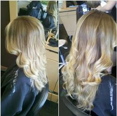 Blonde Ombre style by Mari at Brassfields Salon.