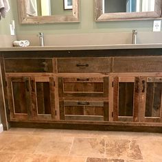 CUSTOM Rustic Bathroom Vanity - Dual Sink, Reclaimed Barn Wood w/Barn Tin (Unfinished) *This vanity does NOT come with counter top If you would like to add a countertop to this vanity you will need to purchase a Category 6 Countertop Mudroom Cabinets, Barn Tin, Reclaimed Barn Wood Vanity, Industrial Vanity, Rustic Bathroom Vanities, Rustic Bathroom, Rustic Doors, Barn Wood Cabinets, Reclaimed Barn Wood