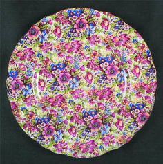 Plate by Royal Winton in Sunshine pattern