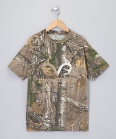 Take a look at this Green & Brown Camouflage Xtra Tee - Boys on zulily today!