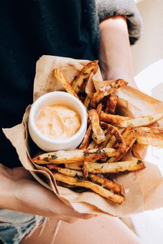 Garlic Parmesan Fries with Chipotle Aioli - The Chriselle Factor