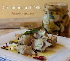 Carciofini+sott+olio+ricetta+della+nonna+bianchi+croccanti+e+senza+rischi