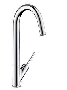 Axor Starck Single lever kitchen mixer with pull-out spray