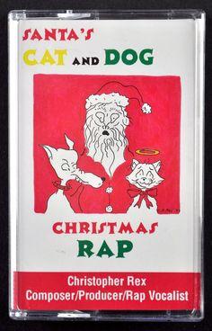 Santa's Cat and Dog Christmas Rap Cassette Tape Single 1993 Christopher Rex #Christmas