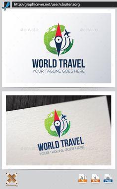 World Travel — Vector EPS #globe #travel • Available here → https://graphicriver.net/item/world-travel/10150317?ref=pxcr