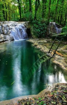 Underwater Ladder, Swimming Hole Sermu, Franche-Comte, France.  Pic  by: Mathieu GUY