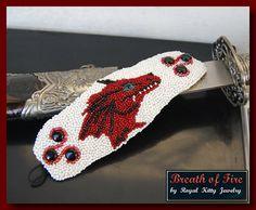 Souffle de feu bracelet fait main bracelet par RoyalKittyJewelry, $150.00