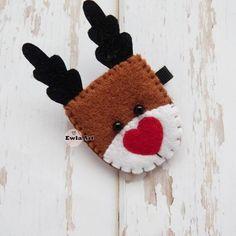 Spinka do włosów renifer filc świąteczna Christmas Ornaments, Holiday Decor, Children, Art, Young Children, Art Background, Boys, Christmas Jewelry, Kids