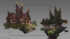 ArtStation - Fantasy architecture 1, Chen Cheng