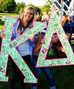 Kickin off Greek Week 2011-12  We LOVE our Lilly letters that our sister, Kennedy Cox made!!