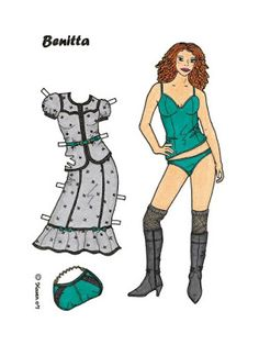 Karen`s Paper Dolls: Benitta 1-8 Paper Doll in Colours. Benitta 1-8…