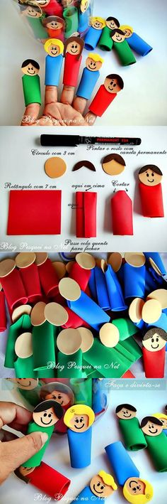 How to Make EVA Dedoches Easy - Einrichtungsstil Kids Crafts, Bible Crafts, Projects For Kids, Preschool Activities, Diy For Kids, Diy And Crafts, Paper Crafts, Operation Christmas Child, Diy Niños Manualidades