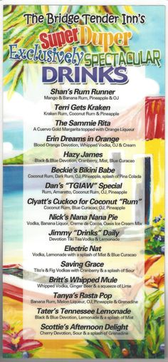 DRINK MENU FRONT - CLICK ON