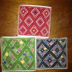 Portavasos de telar de cintura de San Andres Larrainzar, Chiapas #chiapas #mexico #home #artesanias #manualidades #casa #telar