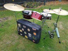 Suitcase drum kit