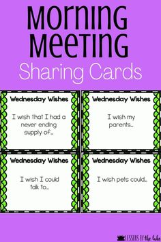 Morning Meeting Kindergarten, Morning Meeting Activities, Class Meetings, Morning Meetings, Morning Meeting Greetings, Building Classroom Community, Responsive Classroom, Question Of The Day, Social Emotional Learning