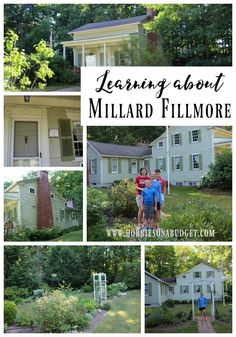 Learning about Millard Fillmore in East Aurora, NY