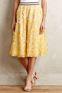 Buttercup Tulle Skirt #anthropologie a different idea... So romantic with a pretty light yellow cropped top. so many options
