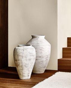 Zara Home New Collection Zara Home, Floor Vase Decor, Vases Decor, Floor Vases, Rope Shelves, Wooden Shelves, Keramik Vase, Home And Living, Living Room Decor