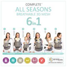 LILLEbaby COMPLETE All Seasons- Most Versatile Baby Carrier | best baby carrier, ergonomic, organic, stylish | LÍLLÉbaby
