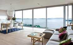 Living room with a beautiful view