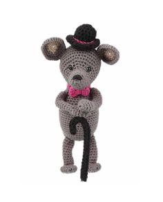 Go Handmade Elliot the Gentleman Mouse amigurumi crochet kit pattern #crochet #gift #cute #animal #craft