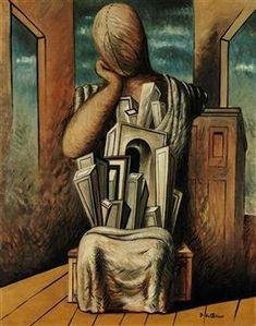 Le philosophe By Giorgio de Chirico Paul Klee Art, Moonlight Painting, Surrealism Painting, Art Archive, Italian Artist, Surreal Art, Magazine Art, Contemporary Paintings, Art History
