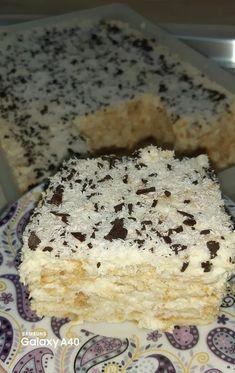 Πολύ πολύ πολύ νόστιμο Γλυκό Ραφαέλο.. Greek Sweets, Greek Desserts, Frozen Desserts, Greek Recipes, Sweets Recipes, Cake Recipes, Cooking Recipes, Greek Cake, Greek Pastries