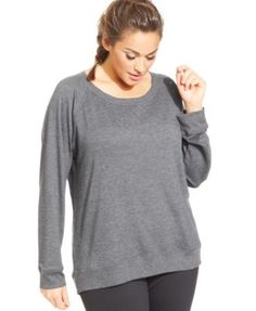 Ideology Plus Size Long-Sleeve Pullover