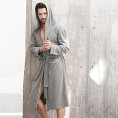 Europe Men's Cotton Long Hooded Bathrobe – The Closet Freakz Boutique Baby Unicorn, Gentleman, Hoods, Raincoat, Menswear, Europe, Boutique, Womens Fashion, Sexy