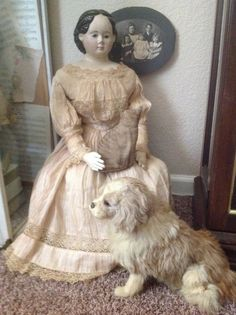 All original antique 32 inch Greiner doll, beautiful condition