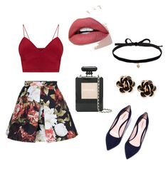 """""""look outono  flores"""" by anajuh2 on Polyvore featuring Chanel, Joomi Lim and Chantecler"""