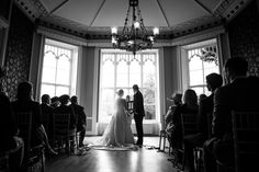 Wedding photographer Nonsuch mansion ceremony room black and white contrast beautiful autumn wedding