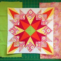 Drop Dead Gorgeous block for the #schnitzelandboominiquiltswap