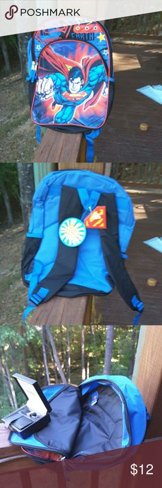 Backpack Boy's superman backpack average sized,  never used, ready to fly! marvel comics  Other