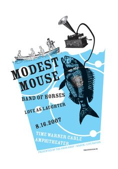 Modest Mouse  Band Of Horses  Love As Laughter by The Decoder Ring Design Concern